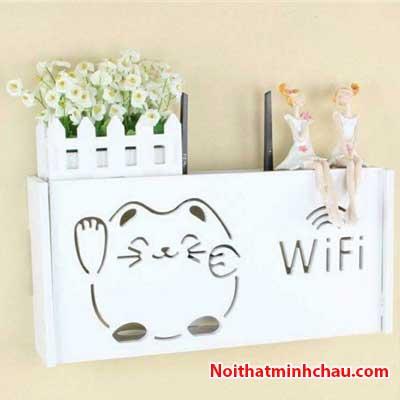 Hộp đựng modem Wifi mèo thần tài MC02
