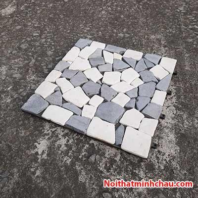 Vỉ đá tự nhiên đen trắng MC21