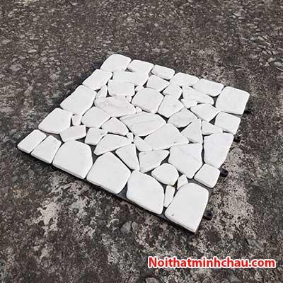 Vỉ đá tự nhiên trắng sứ MC22