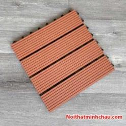 Vỉ gỗ nhựa composite MC03 màu đỏ