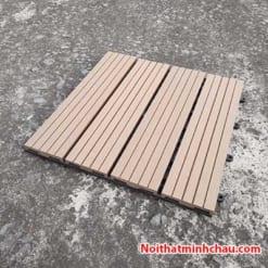Vỉ gỗ nhựa composite MC12 màu vàng gỗ