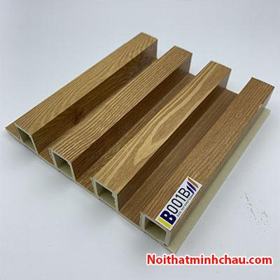 Lam nhựa giả gỗ ốp tường IBT Wall IB001B 4 sóng