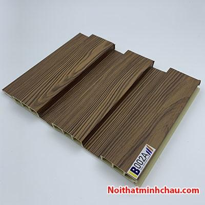 Lam nhựa giả gỗ ốp tường IBT Wall IB002A 3 sóng thấp