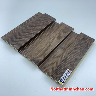 Lam nhựa giả gỗ ốp tường IBT Wall IB004A 3 sóng thấp