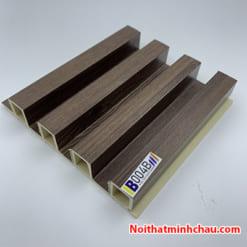 Lam nhựa giả gỗ ốp tường IBT Wall IB004B 4 sóng
