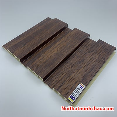 Lam nhựa giả gỗ ốp tường IBT Wall IB030A 3 sóng thấp