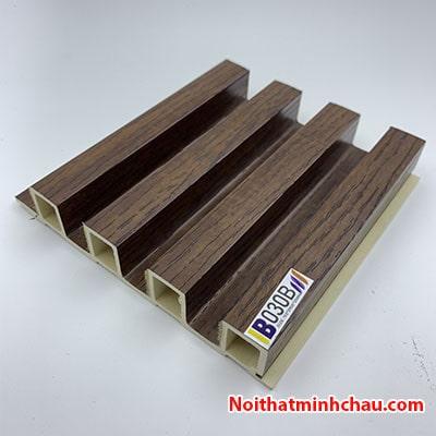 Lam nhựa giả gỗ ốp tường IBT Wall IB030B 4 sóng