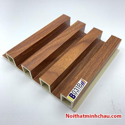 Lam nhựa giả gỗ ốp tường IBT Wall IB031B 4 sóng
