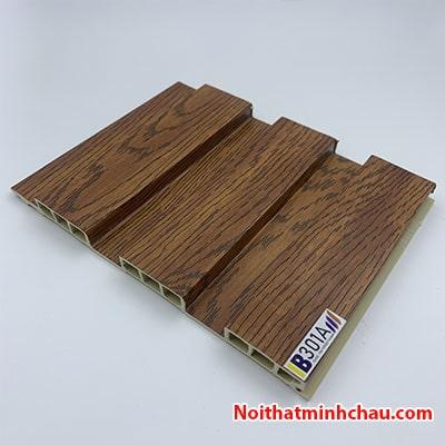 Lam nhựa giả gỗ ốp tường IBT Wall IB301A 3 sóng thấp