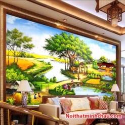 Tranh dán tường đồng quê Việt Nam MC117
