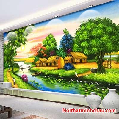 Tranh dán tường đồng quê Việt Nam MC118