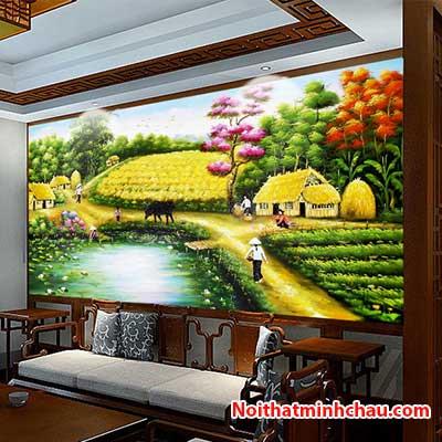 Tranh dán tường đồng quê Việt Nam MC2081