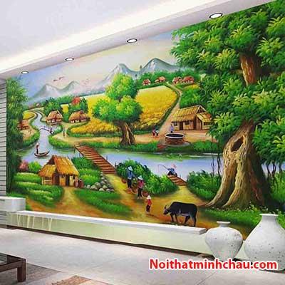 Tranh dán tường đồng quê Việt Nam MC57
