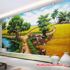 Tranh dán tường đồng quê Việt Nam MC79
