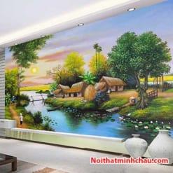 Tranh dán tường đồng quê Việt Nam MC80