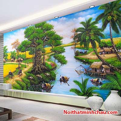 Tranh dán tường đồng quê Việt Nam MC81