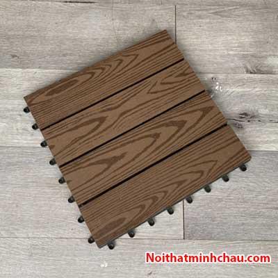 Vỉ gỗ nhựa composite MC05 vân gỗ màu cafe