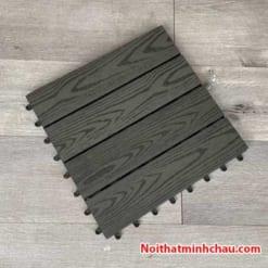 Vỉ gỗ nhựa composite MC06 vân gỗ màu xanh đen