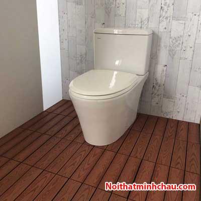 Vỉ gỗ nhựa composite vân gỗ cafe cho nhà tắm