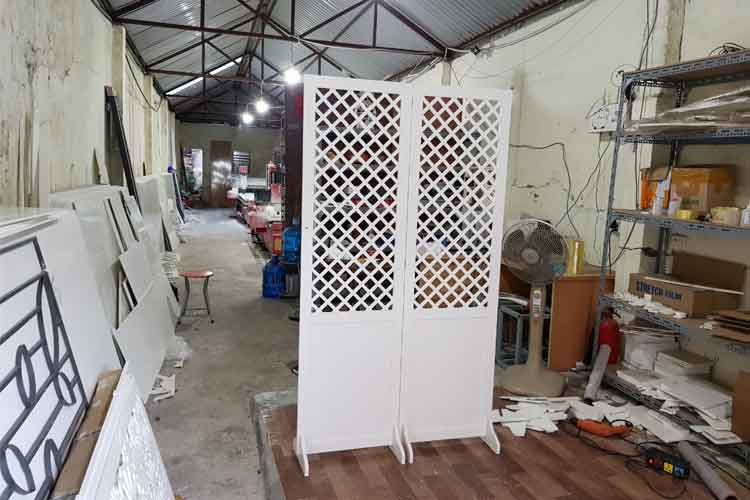 Xưởng sản xuất bình phong Nội Thất Minh Châu