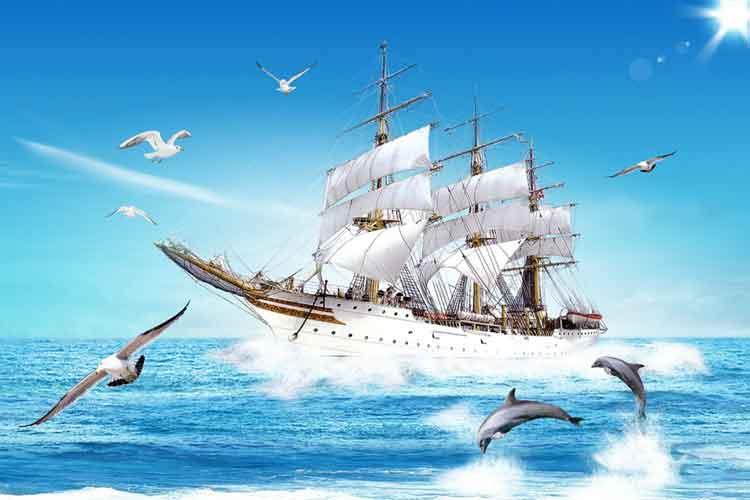 Tranh thuận buồm xuôi gió treo như thế nào