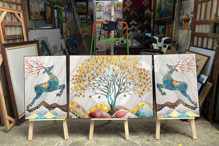 địa chỉ bán tranh tráng gương tại Hà Nội