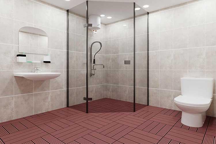 Có nên dùng vỉ gỗ lót sàn nhà tắm không?