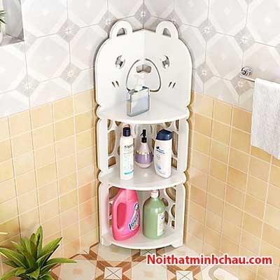 Kệ góc phòng tắm hình con gấu MC01 3 tầng