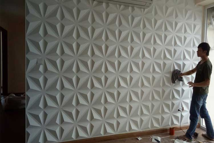 Vệ sinh tấm nhựa ốp tường 3d pvc