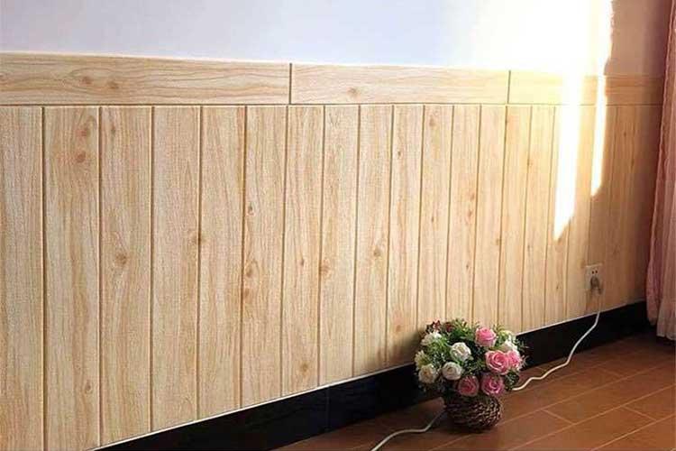 đặc điểm nổi bật của xốp dán tường 3d giả gỗ