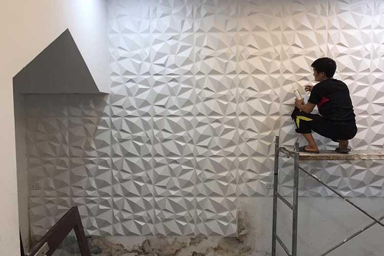 thi công tấm ốp tường 3d nhựa pvc