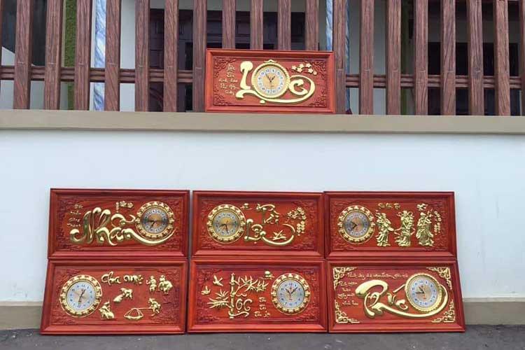 xưởng sản xuất tranh đồng hồ gỗ treo tường