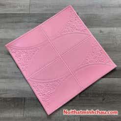 Xốp dán tường giả da hoa hồng MC34 màu hồng phấn