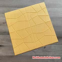 Xốp dán tường giả da kim cương MC01 màu vàng kem