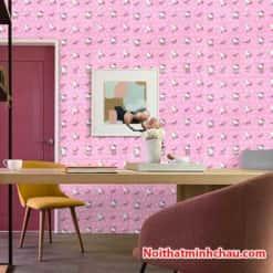 Xốp dán tường Hello Kitty MC02 hoàn thiện