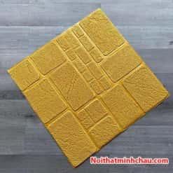Xốp dán tường hoa văn bê tông MC22 màu vàng