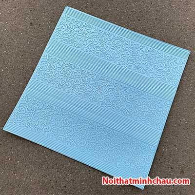 Xốp dán tường hoa văn tân cổ điển MC11 màu xanh dương
