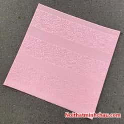 Xốp dán tường hoa văn tân cổ điển MC13 màu hồng phấn