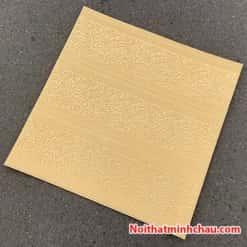 Xốp dán tường hoa văn tân cổ điển MC14 màu vàng kem