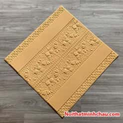 Xốp dán tường hoa văn tân cổ điển MC41 màu vàng kem