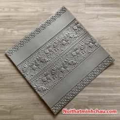 Xốp dán tường hoa văn tân cổ điển MC42 màu xám ghi