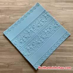 Xốp dán tường hoa văn tân cổ điển MC43 màu xanh dương