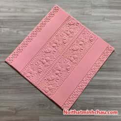 Xốp dán tường hoa văn tân cổ điển MC44 màu hồng phấn