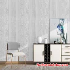 Xốp dán tường hoa văn tân cổ điển MC45 màu trắng hoàn thiện