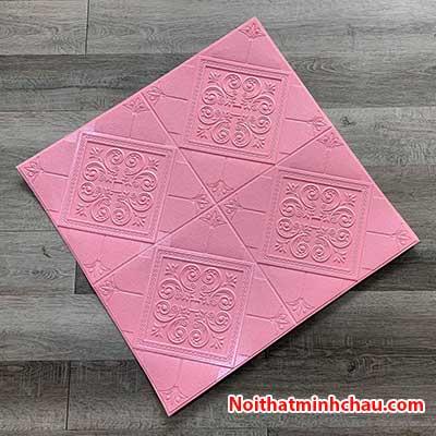 Xốp dán tường hoa văn tân cổ điển MC54 màu hồng phấn