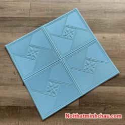 Xốp dán tường hoa văn tân cổ điển MC63 màu xanh dương