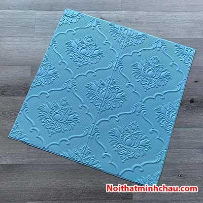 Xốp dán tường hoa văn tân cổ điển MC74 màu xanh dương